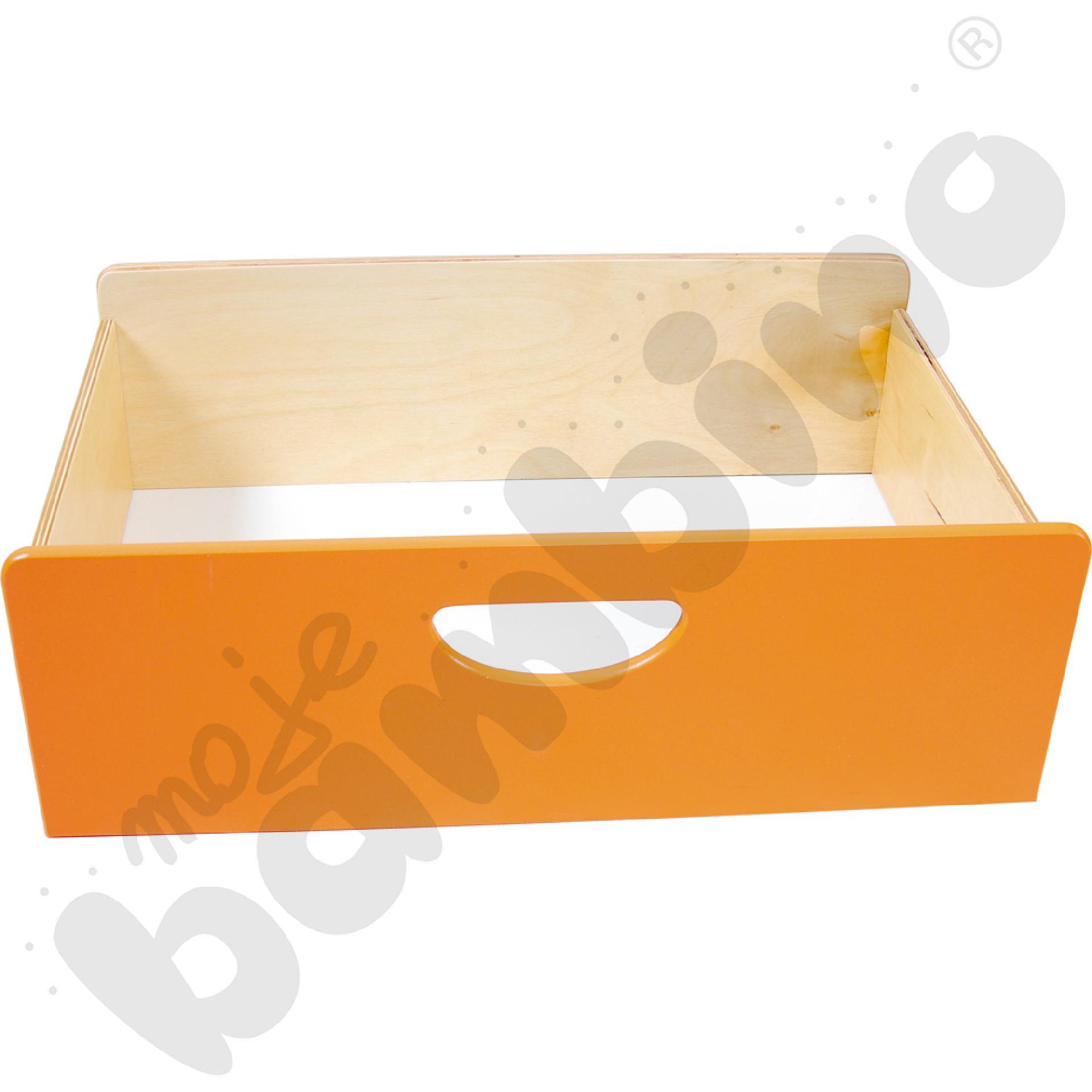 Pojemnik drewniany BIS - pomarańczowy