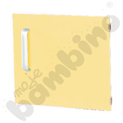Drzwiczki do szafki M z przegrodą prawe - żółte