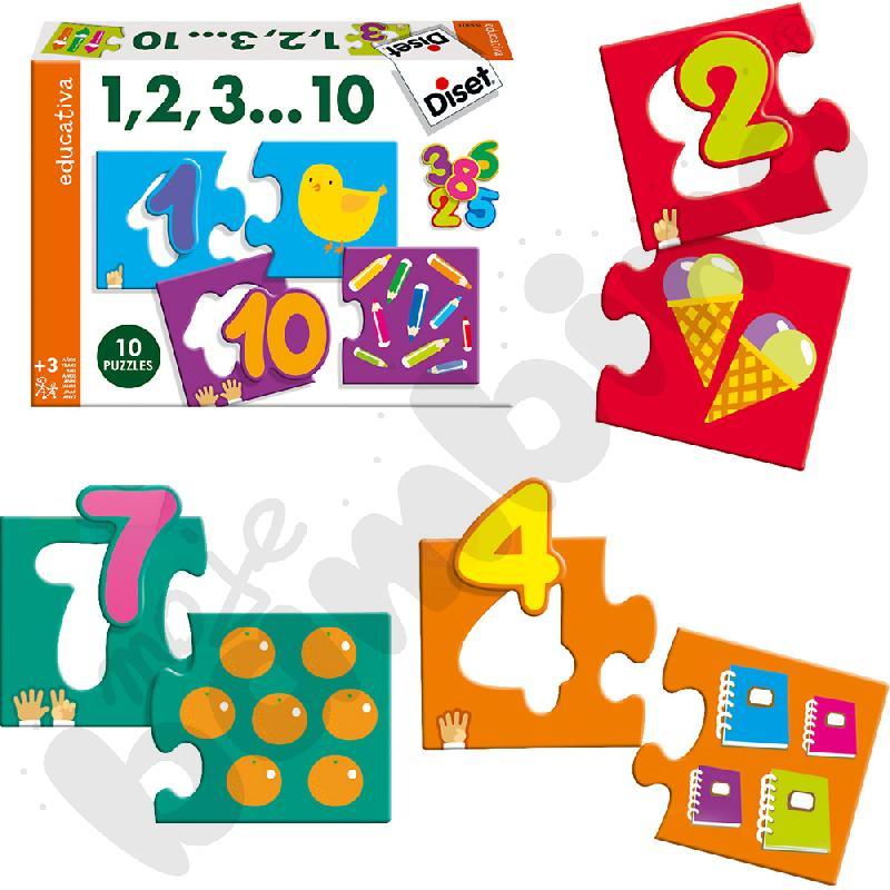 1, 2, 3…10 - puzzle