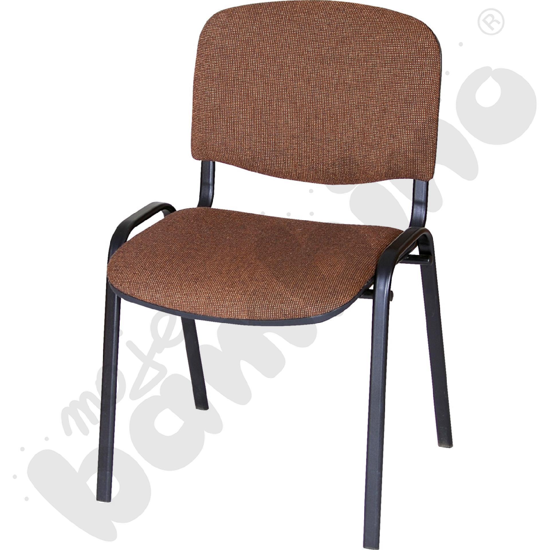 Krzesło konferencyjne ISO Black brązowe