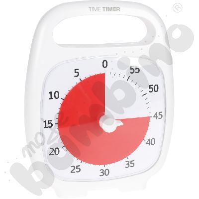 Zegar z dźwiękiem biały