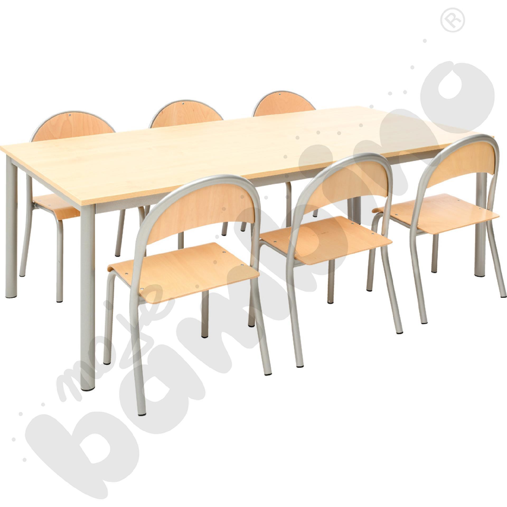 Stół Mila z krzesłem P - rozm. 3