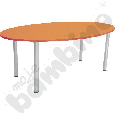 Stół owalny 120 x 200 cm buk