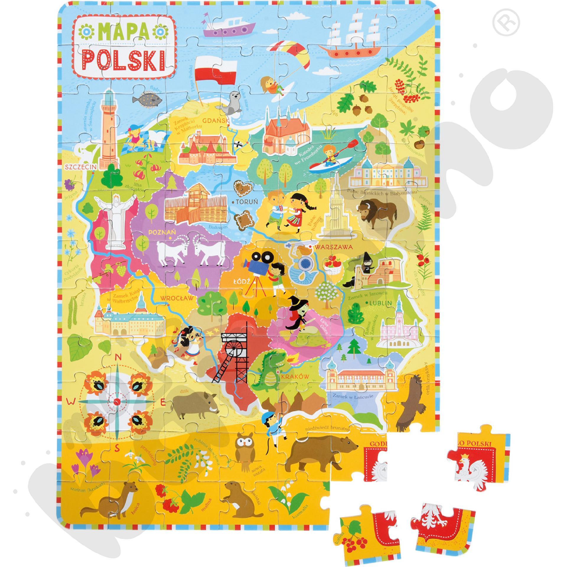Kieszonkowe puzzle - Mapa Polski