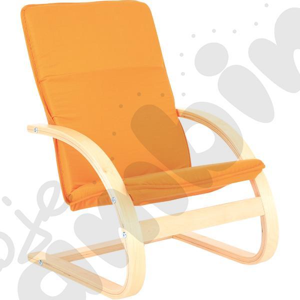 Mały fotelik - pomarańczowy