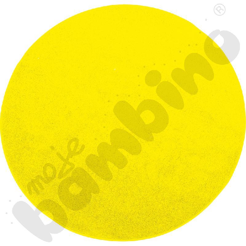 Dywan okrągły o śr. 100 cm - żółty