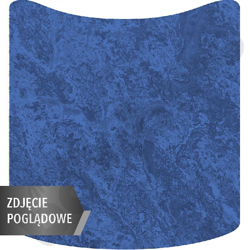 Cichy stół falisty mały, 70 x 72 cm, zaokrąglone narożniki, rozm. 2 - niebieski