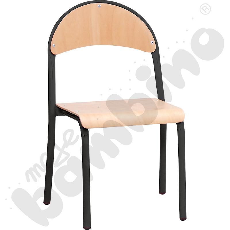 Krzesło P rozm.  3 czarne
