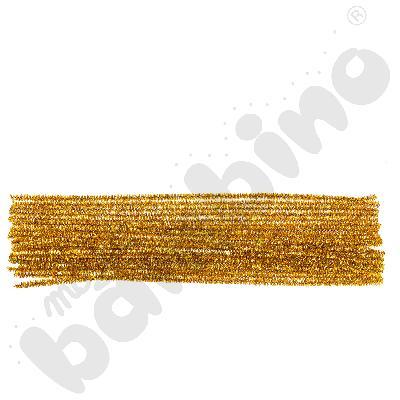 Brokatowe druciki kreatywne złote