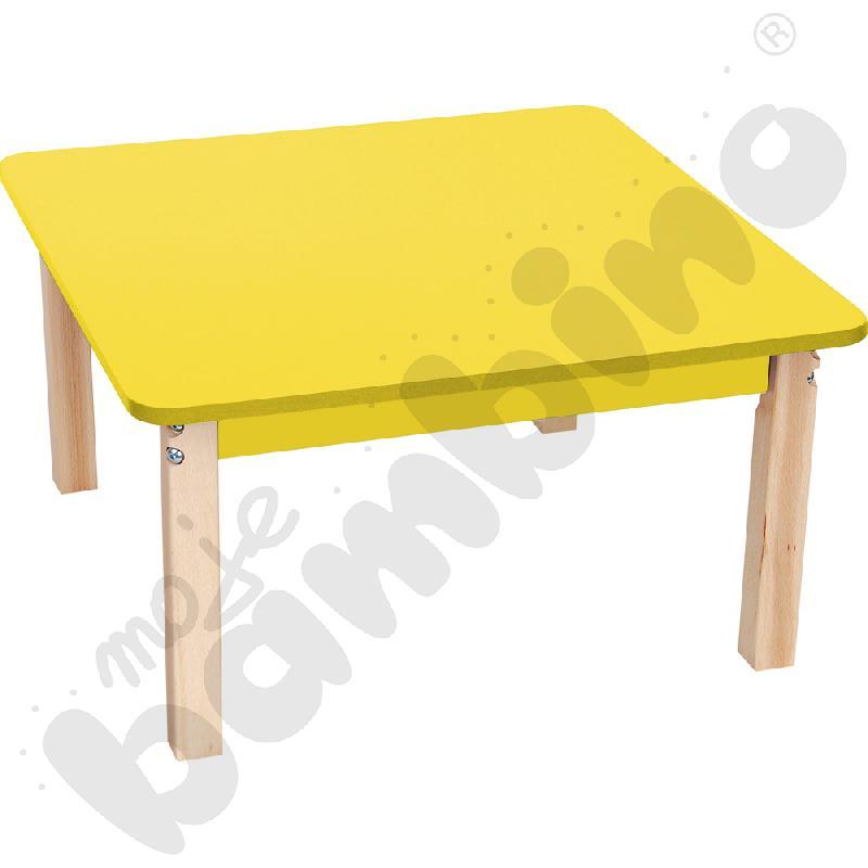 Blat kwadratowy żółty