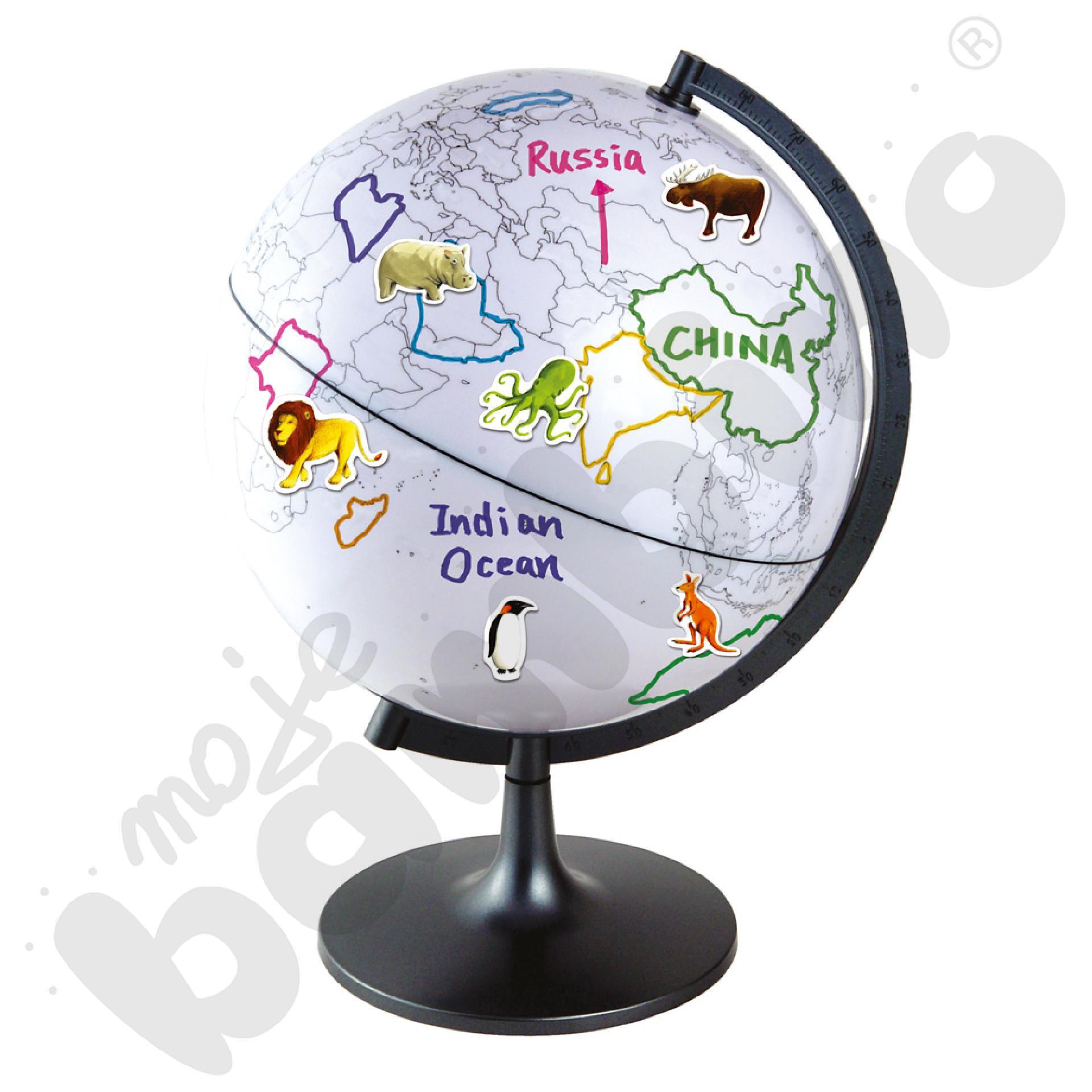 Globus - pokoloruj świat