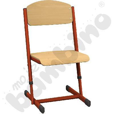 Krzesło T z regulowaną wysokością rozm. 1-2 czerwone