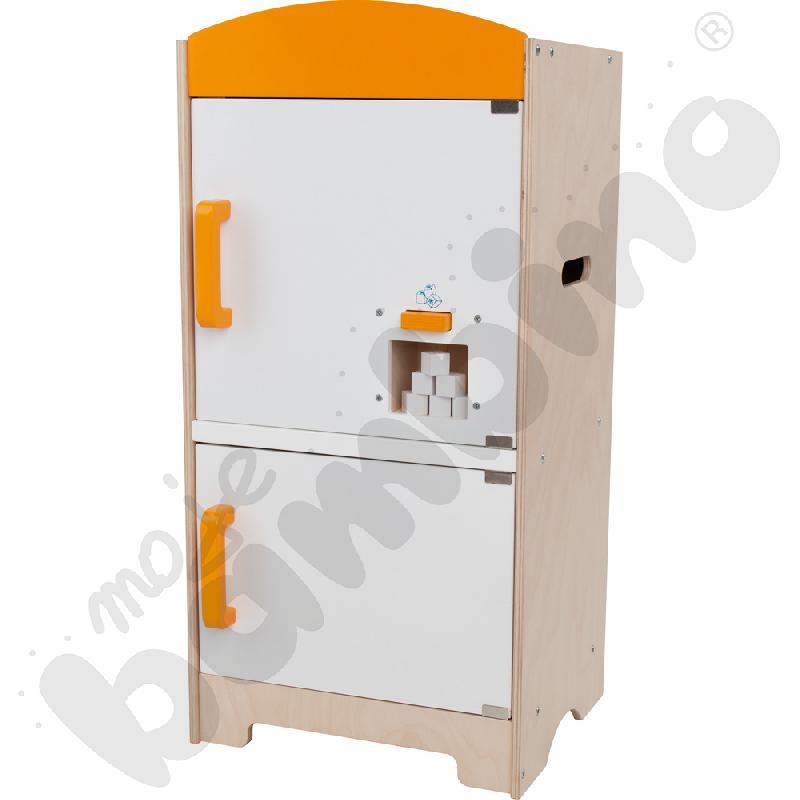 Drewniany kącik kuchenny - lodówka