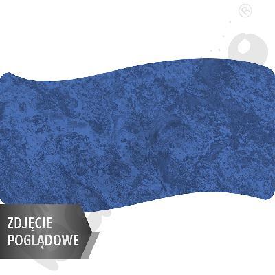 Cichy stół Plus falisty duży, 140 x 72 cm, zaokrąglone narożniki, rozm. 2 - niebieski