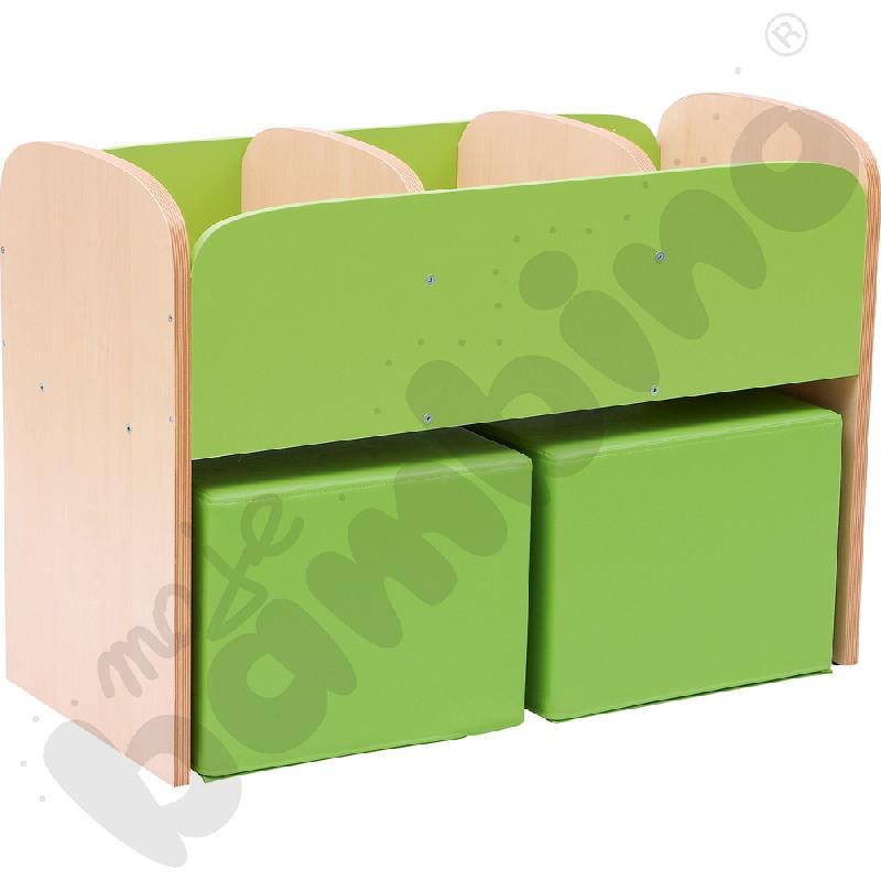 Biblioteczka stojąca Premium - zielona