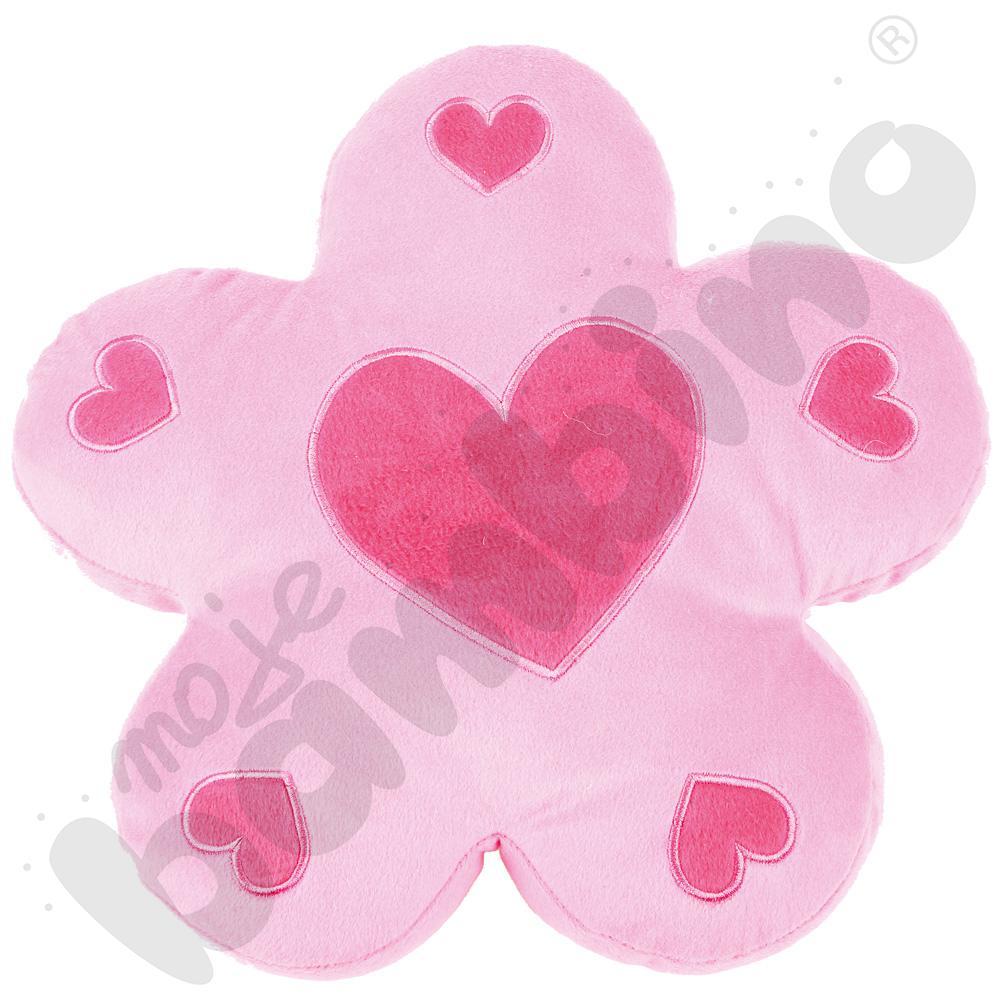 Poduszka FLAT kwiatek różowy