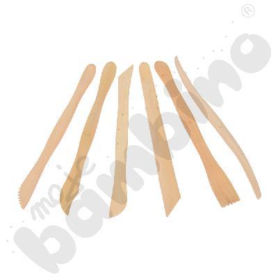 Narzędzia do modelowania drewniane