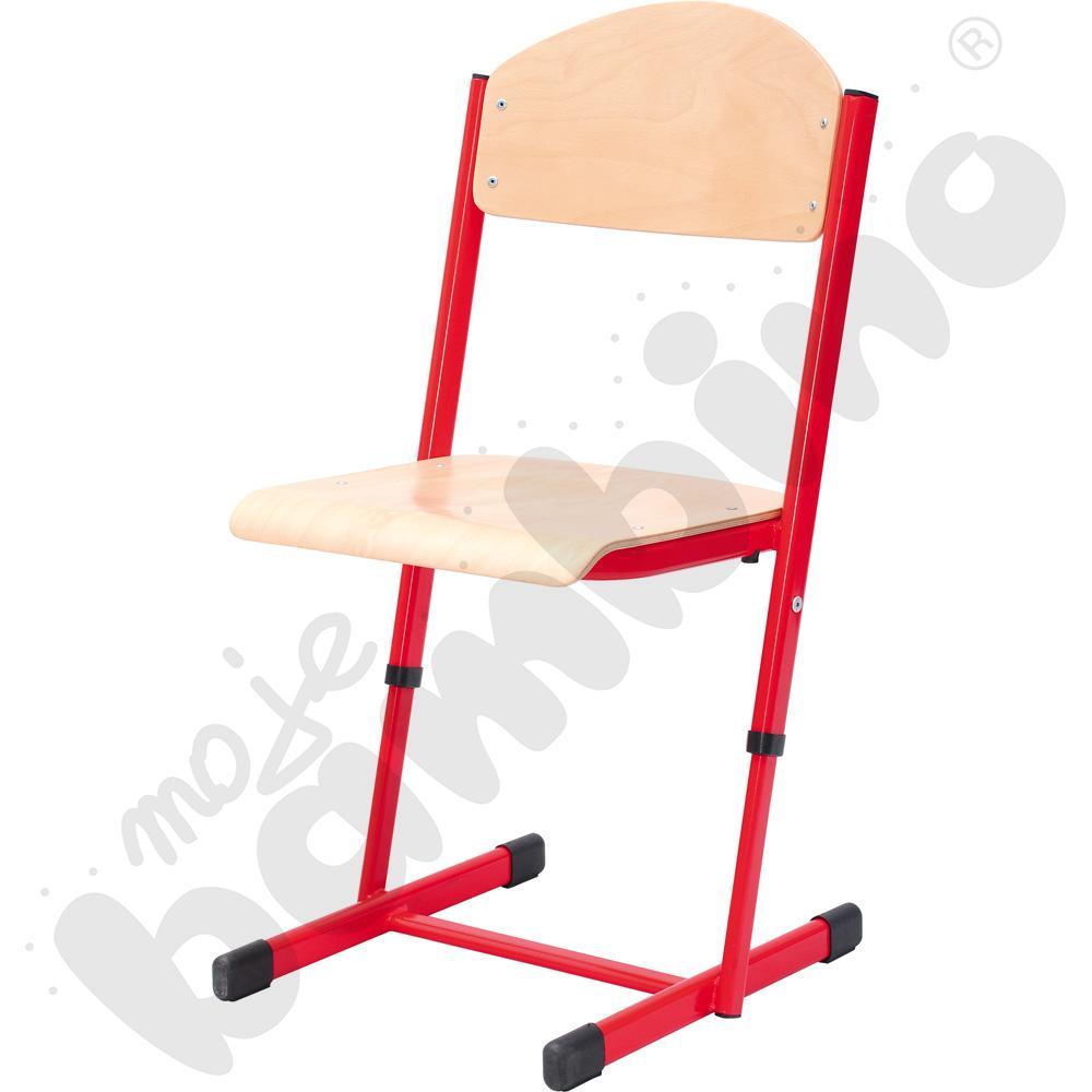 Krzesło T z regulowaną wysokością rozm. 5-6 czerwone