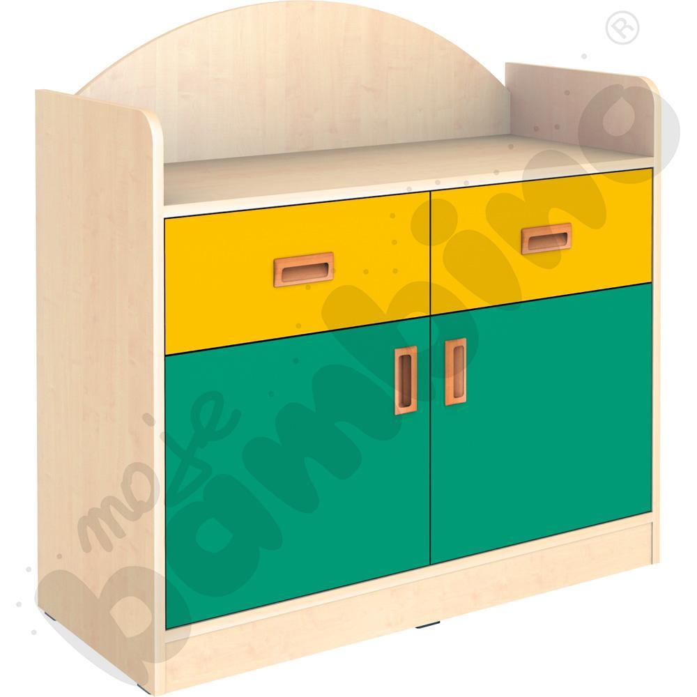 SANLANDIA szafka dwudrzwiowa z 2 szufladami i przegrodą
