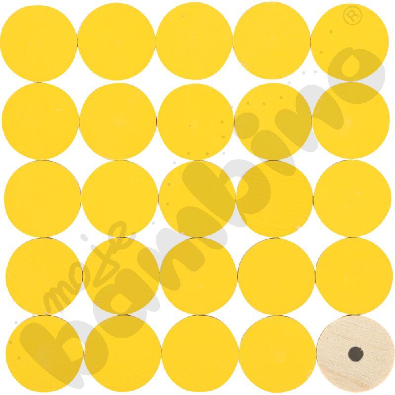 Magnetyczne krążki żółte