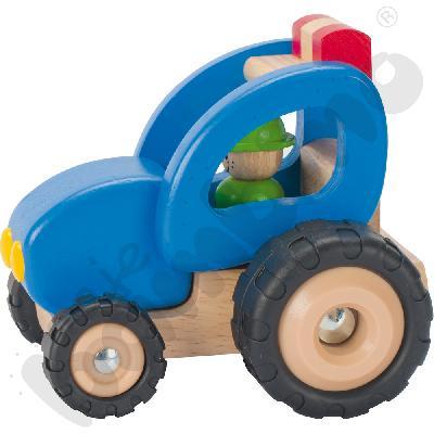 Traktor drewniany