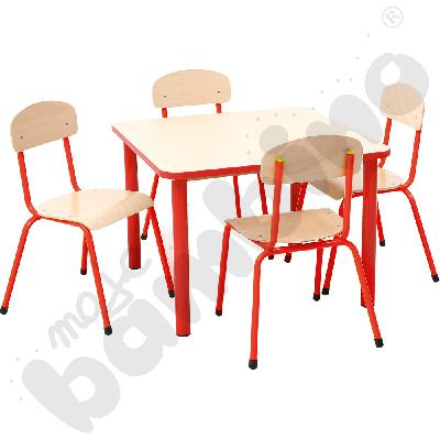 Zestaw Bambino rozm. 3 - stół z krzesłami