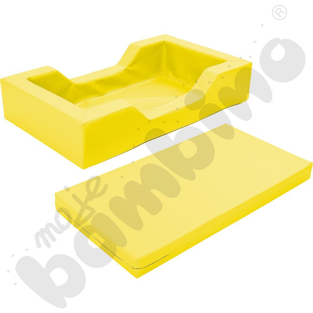 Łóżeczko piankowe z wycięciami żółte