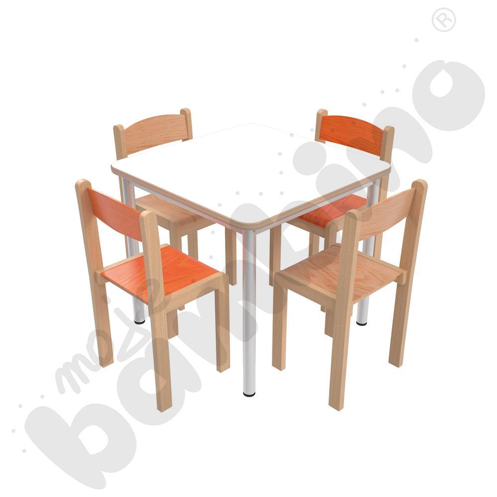 Stół Mila 70 x 70 biały HPL...