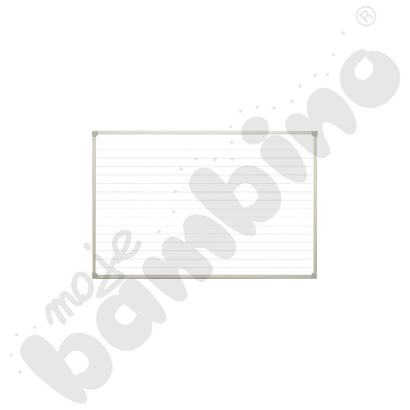 Tablica biała z nadrukiem linia