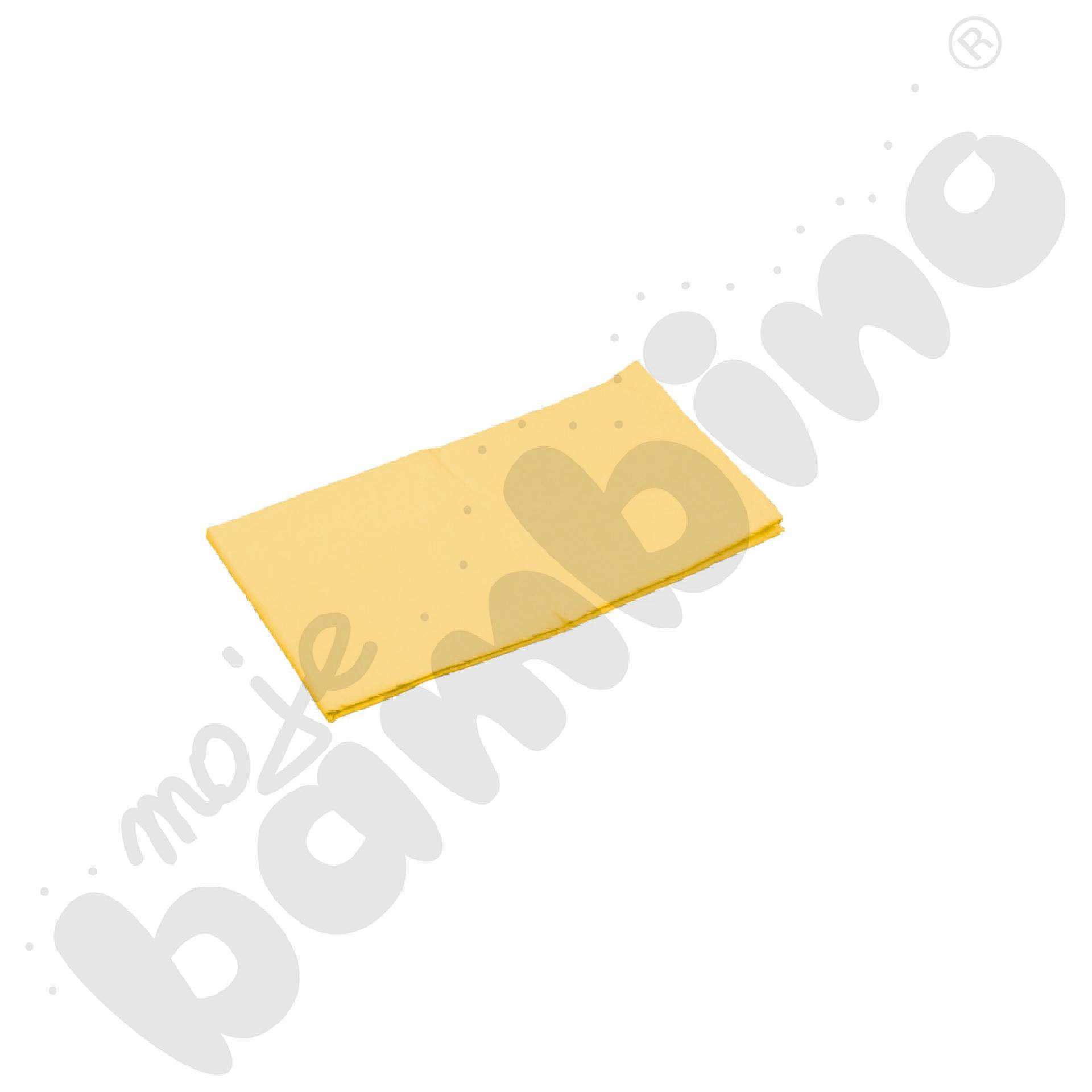 Prześcieradło z gumką (na materac) żółte wym. 140 x 70 cm