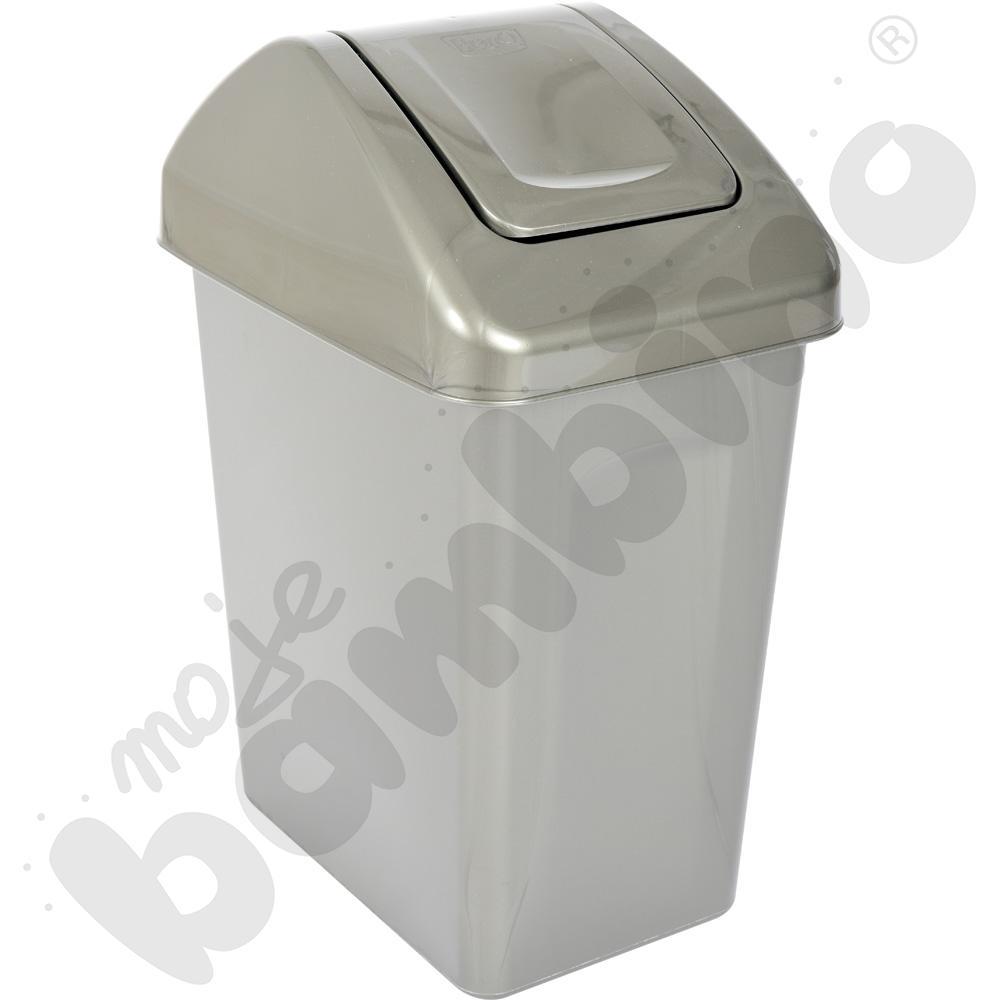 Kosz na śmieci z uchylną pokrywą 25 l - mix kolorów