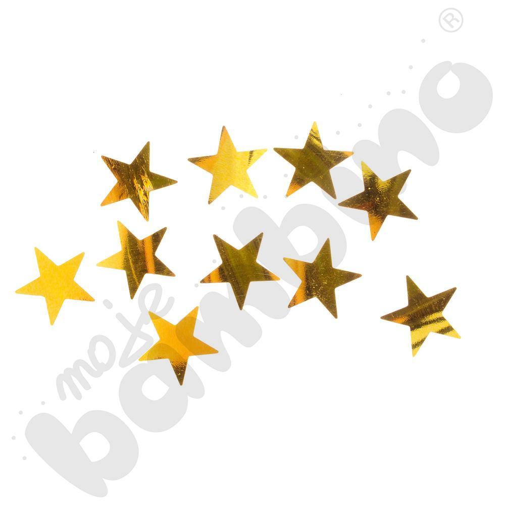 Cekiny świąteczne - złote gwiazdki