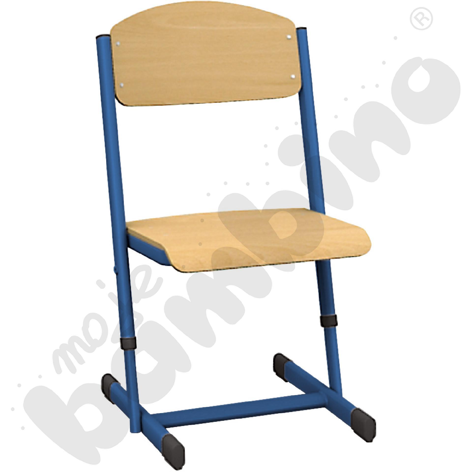 Krzesło T z regulowaną wys. rozm. 2-3 niebieskie