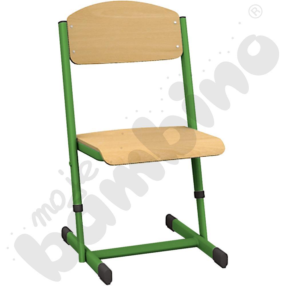 Krzesło T z regulowaną wysokością rozm. 5-6 zielone