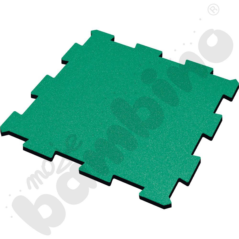 Nawierzchnia bezpieczna syntetyczna - puzzel SBR, 50 mm, zielona, 1 szt.