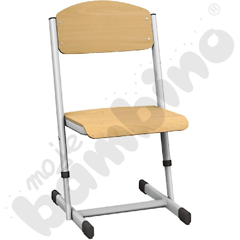 Krzesło T z regulowaną wysokością rozm. 1-2 srebrne