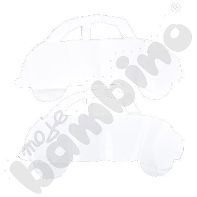 Papierowe auta do malowania