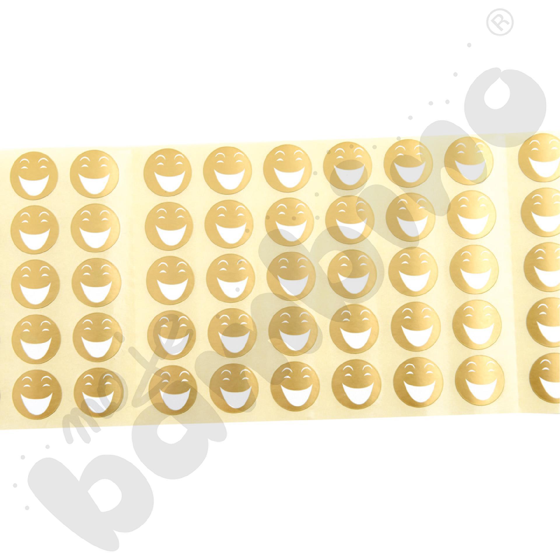 Wesołe buźki-naklejki złote