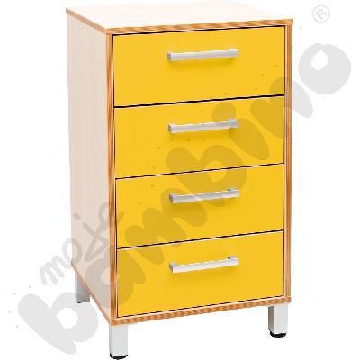 Szafka z szufladami Premium solo - żółta