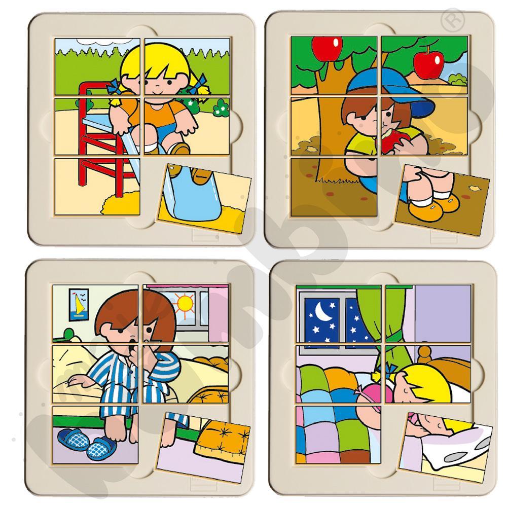 Zestaw puzzli tematycznych 6 elem.