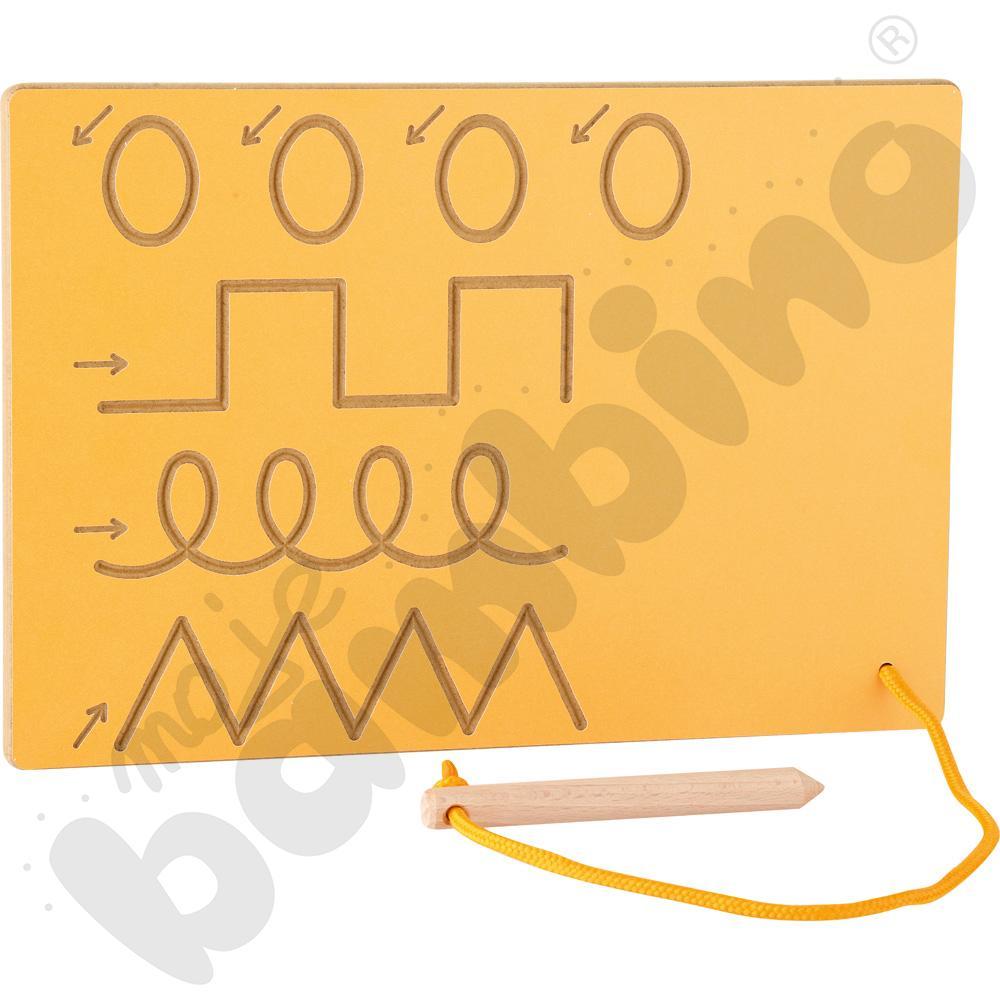 Tabliczka ze szlaczkami żółta