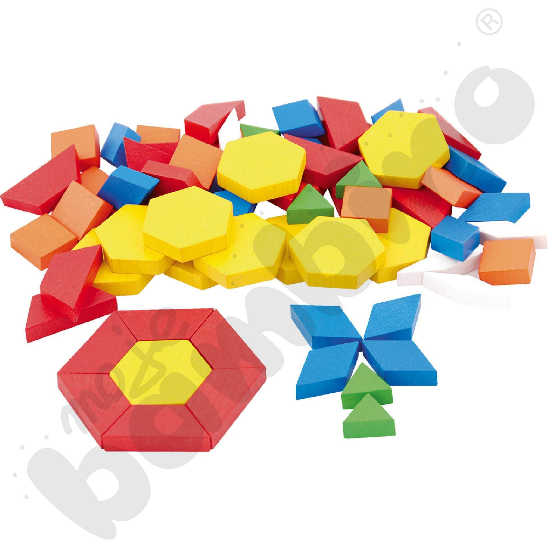 Geometryczne kształty drewniane