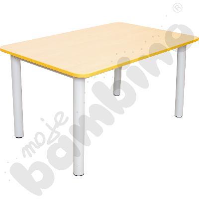 Blat do stołu Premium z żółtym obrzeżem