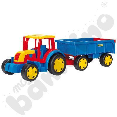 Traktor gigant z przyczepą