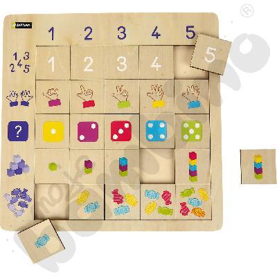 Logiczne puzzle Liczbyaaa