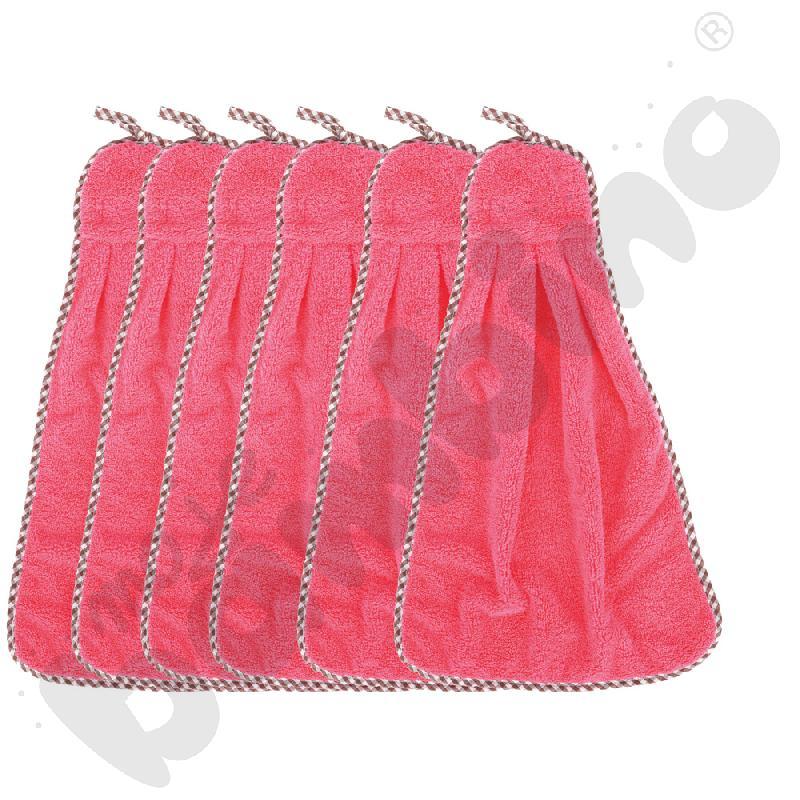 Ręczniki różowe, 6 szt.