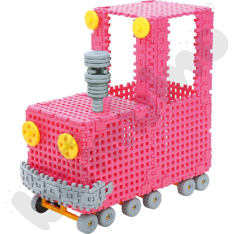 Klocki wafle - lokomotywa