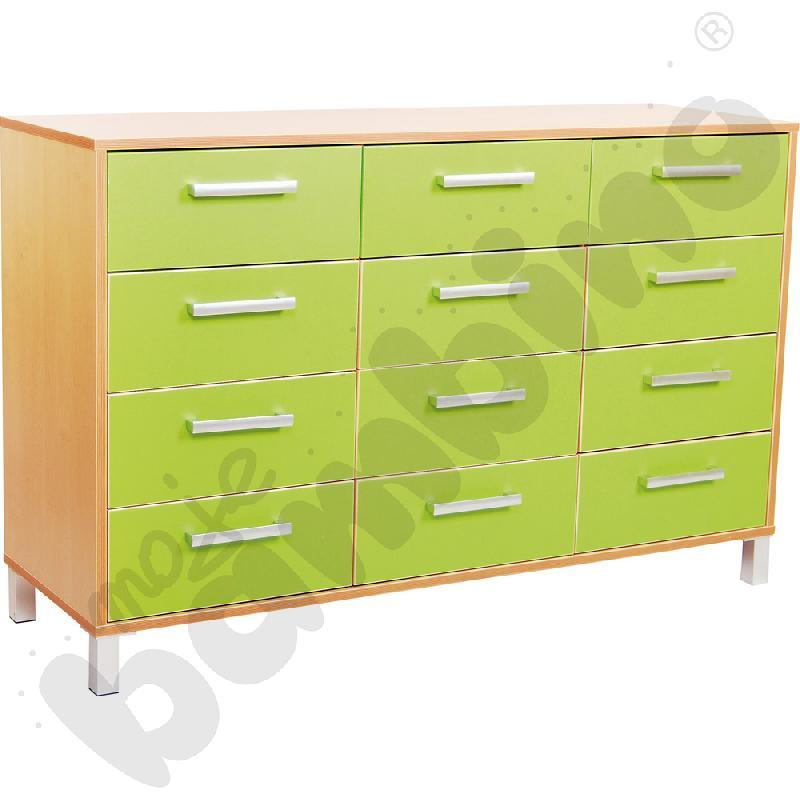 Szafka z szufladami Premium trio - zielona