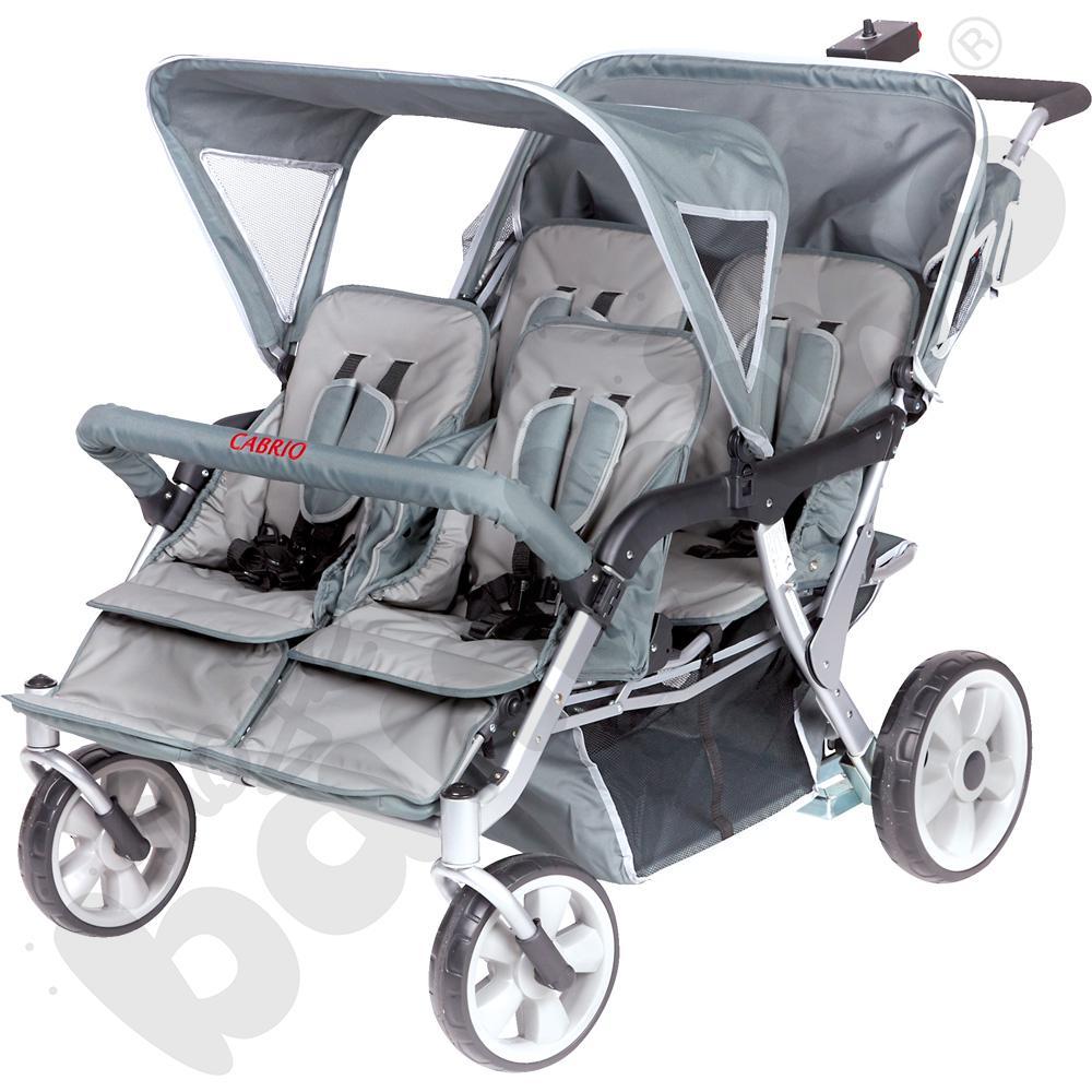 Wózek z napędem elektrycznym dla 4 dzieci