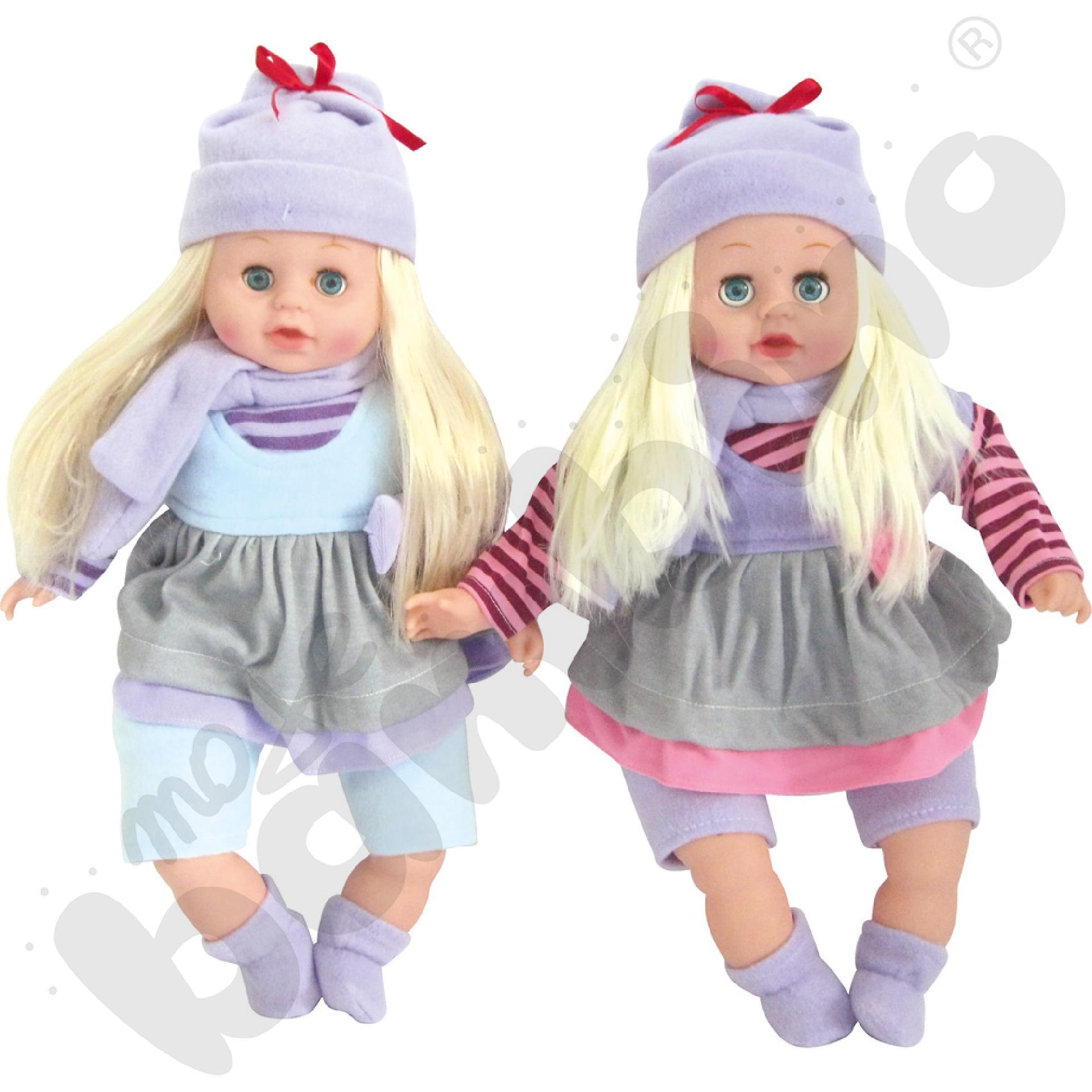 Lalka w zimowym ubranku